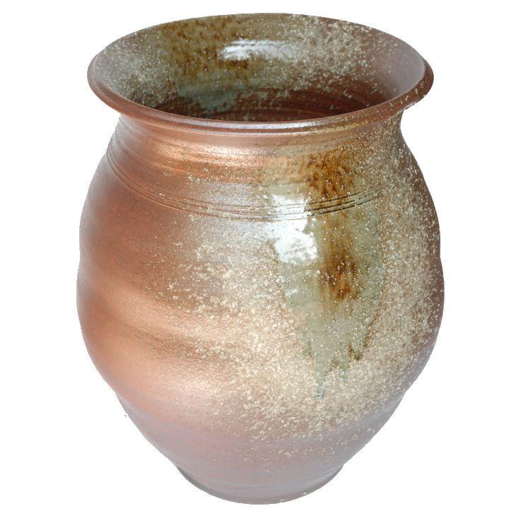 古信楽大壺 25号 (信楽焼・陶器・花器・花瓶・花入れ・壺)