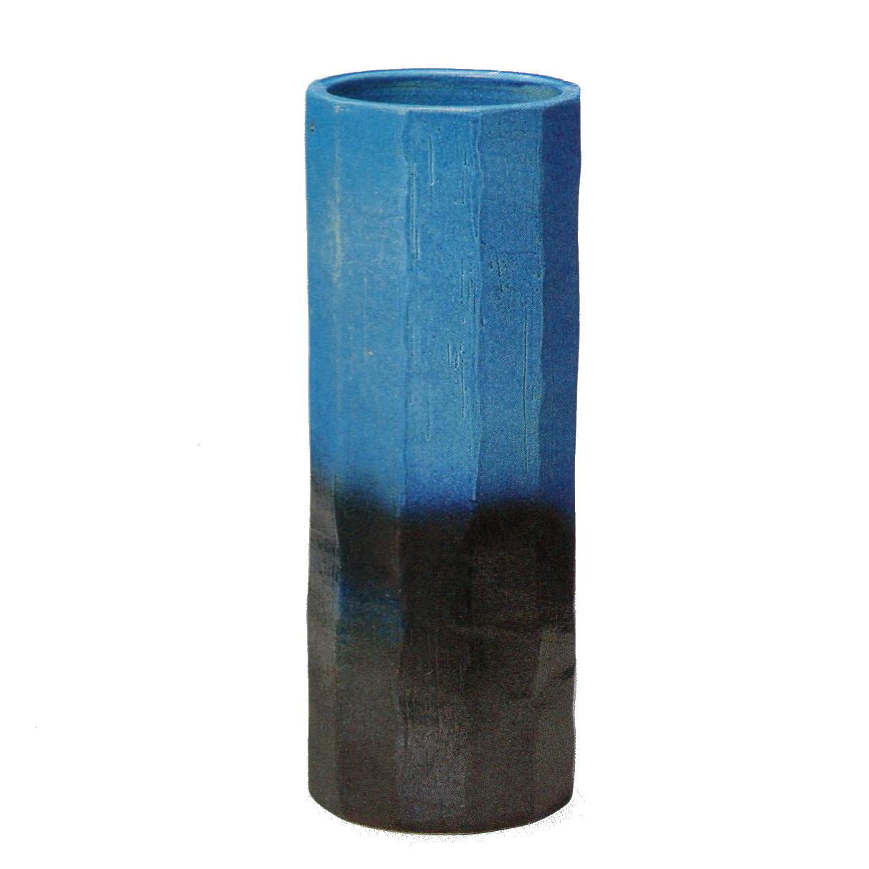 青ガラス釉面取傘立