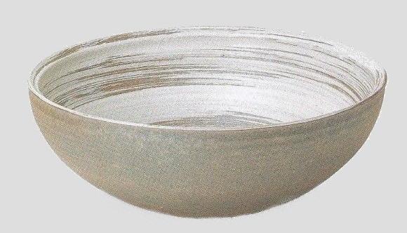 うずしお手洗鉢 (器具付) (信楽焼・陶器・手洗い鉢)