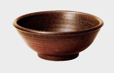 黒手洗鉢(器具付) (信楽焼・陶器・手洗い鉢)