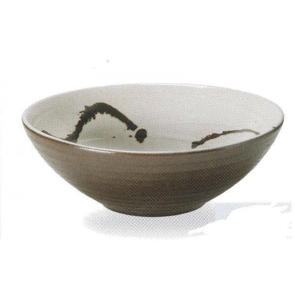 鉄飛び手洗鉢(器具付) (信楽焼・陶器・手洗い鉢)